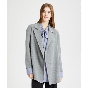 Theory Clairene New Divide Gray Double Face Coat